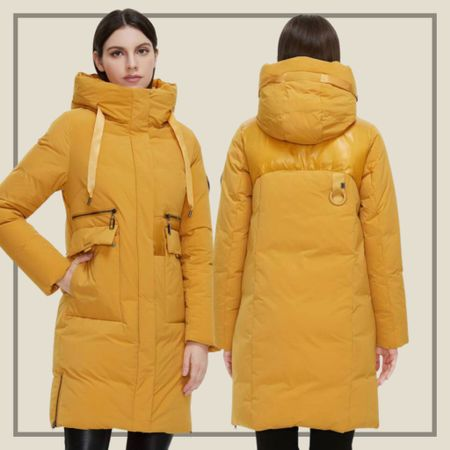 Flap pocket hooded puffy winter coat jacket   #LTKstyletip #LTKunder100