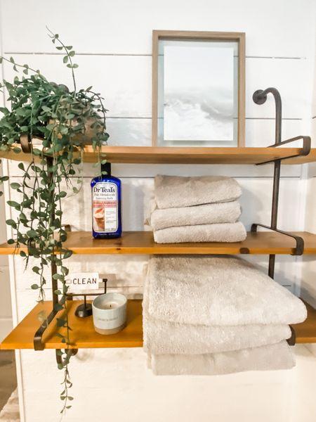 Master bathroom spa decor. Spa bathroom. Home bath. Bathroom essentials. Three tiered shelf. http://liketk.it/3iMs9 #liketkit @liketoknow.it #LTKhome #LTKstyletip #LTKunder100 Shop your screenshot of this pic with the LIKEtoKNOW.it shopping app