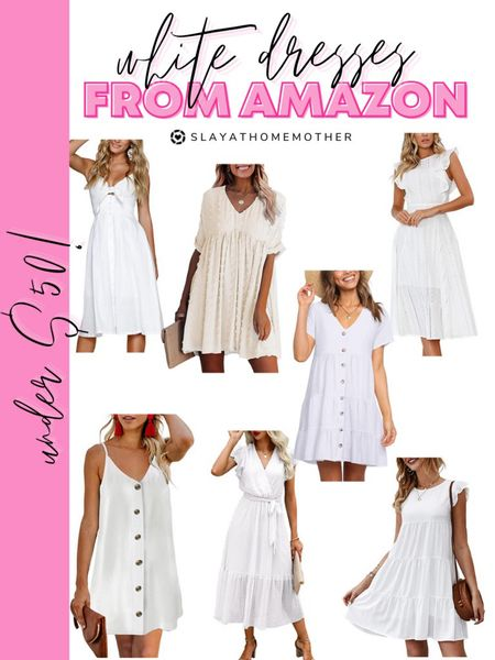 White dresses from Amazon   Walmart home, target home, cleaning, clean home, dream home, under 50, daily deals, 5 stars, amazon finds, amazon deals, daily deals, deal of the day, dotd, bohemian, farmhouse decor, farmhouse, living room, master bedroom, door room, loft, Amazon fashion, maxi dress, midi dress   💕Follow for more daily deals, home decor, and style inspiration 💕  #LTKsalealert #LTKunder50 #LTKstyletip