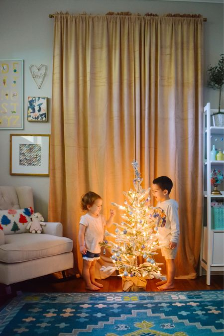The kids were so excited to put their trees up in their rooms this year. With the holidays looking a little different this year it was nice to give them a little something extra to add whimsy and excitement!  All items linked here http://liketk.it/325KL #liketkit @liketoknow.it #LTKkids #LTKhome @liketoknow.it.home