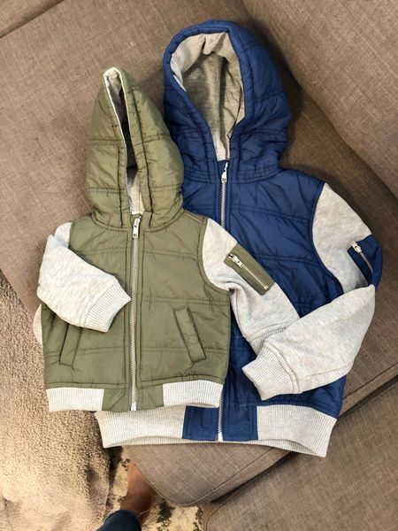 Can't wait to see my boys this fall coordinating in these hooded jackets that I bought on sale! I sized up for both so that they can wear them longer.   #LTKsalealert #LTKbaby #LTKkids