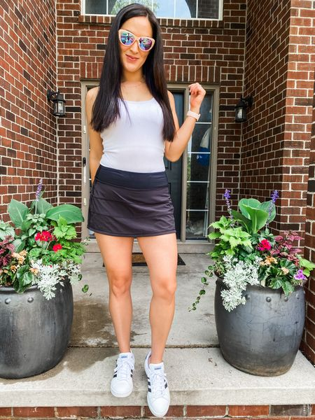Perfect summer outfit for running around with the kids -this skort is my favorite!  I love wearing athleisure   http://liketk.it/3huav #liketkit @liketoknow.it