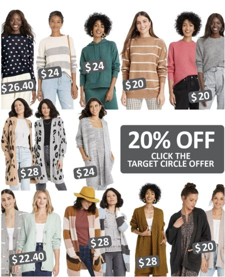 Sale has ended, but still great prices!   Target  Sweaters Cardigan  Women's style Fall fashion   #LTKHoliday #LTKSeasonal #LTKunder100