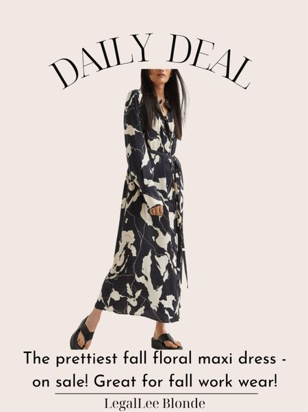 The perfect fall dress! Fits true to size and is on sale for under $50. Would be great as a fall wedding guest dress! - fall dresses - a-line dress - maxi dress - long dress   #LTKunder100 #LTKwedding #LTKsalealert