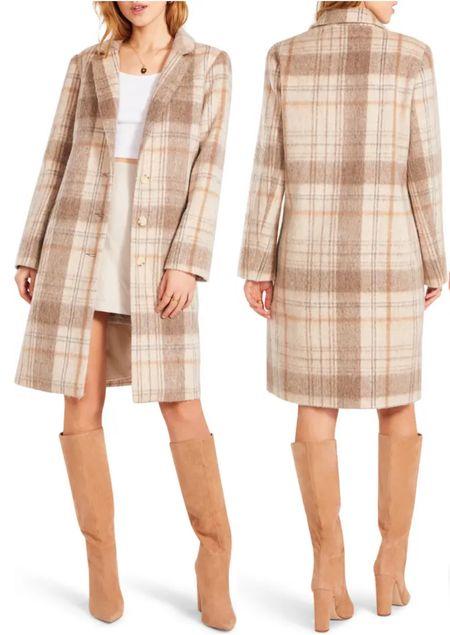 Loving this plaid coat for fall!   #LTKunder100 #LTKSale #LTKSeasonal