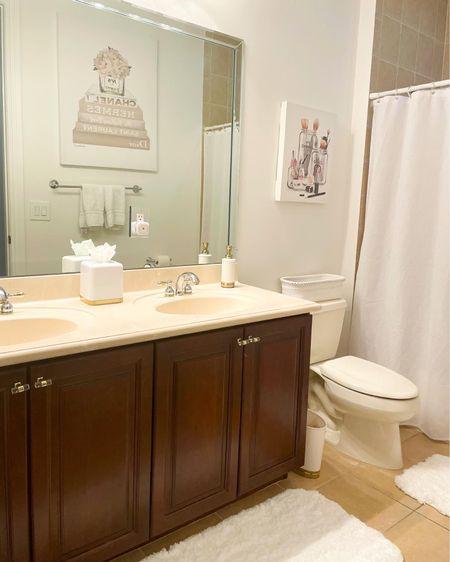 http://liketk.it/37KaT #liketkit @liketoknow.it @liketoknow.it.home #LTKhome #LTKunder50 #LTKfamily #bathroom #bathroomdecor #amazonhomedecor #homedecor #amazonfinds #teen #teenbathroom #whiteandgold