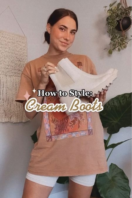 How to style cream boots for fall!   #LTKshoecrush #LTKstyletip
