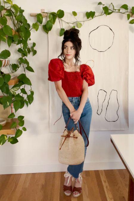 Puffy sleeves and basket bags 🙌🏼🤗🥰 http://liketk.it/3fVNm #liketkit @liketoknow.it