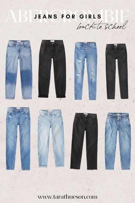 My kids love Abercrombie jeans! Right now if you buy 3 items, you get 2 free! Such a steal for back to school.   #LTKbacktoschool #LTKkids