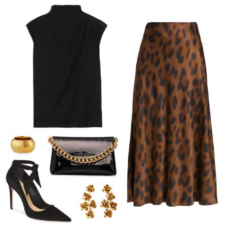 Animal print is our favorite fall neutral 👏🏼 Love this chic skirt + top combo for a baby shower, church, family photos, rehearsal dinner, or any special occasion!   #tssedited #thestylescribe #leopard #midi #ootd #outfitinspo #classicstyle #skirts #pumps #dressy   #LTKSeasonal #LTKstyletip