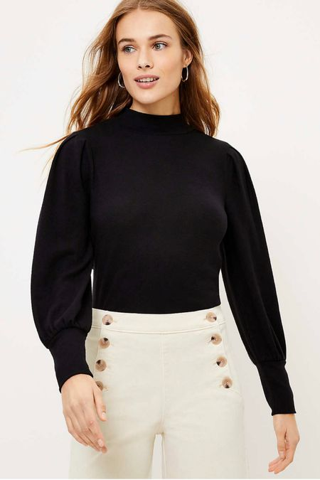 This mock neck black top is perfect for shooting weddings or workwear! Plus it's on super sale! http://liketk.it/39neu #liketkit @liketoknow.it #LTKworkwear #LTKunder50