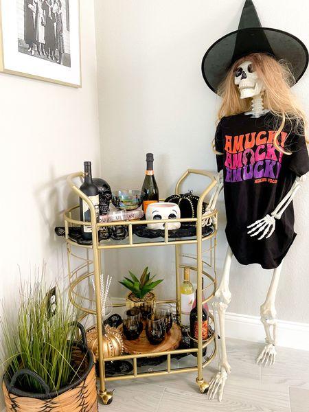 Halloween bar cart decor wine night party ideas   #LTKHoliday #LTKhome