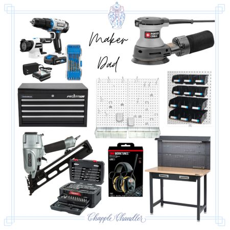 Father's Day gift ideas gift guide dad gifts for him, Walmart fathers day gift diy maker crafter garage organization tools power tools woodworking   #LTKunder50 #LTKmens #LTKunder100