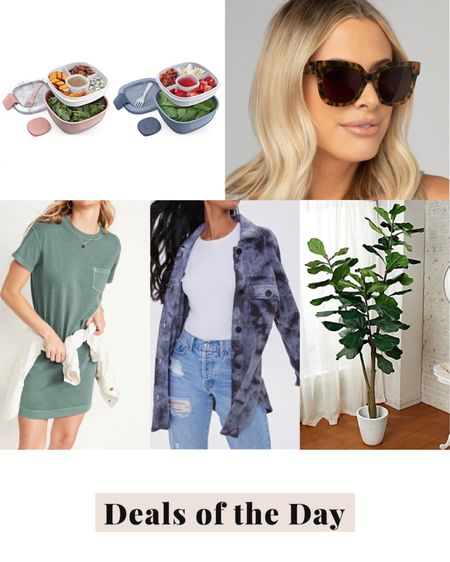 Deals of the day, daily deals, today's deals, Faux plant, plant decor, faux fiddle leaf, faux tree, Qvc, tie dye, fleece shacket, shirt jacket, forever 21, buddy love sunglasses, oversized sunglasses, salad container http://liketk.it/3jZYn @liketoknow.it #liketkit #LTKsalealert #LTKunder50 #LTKunder100
