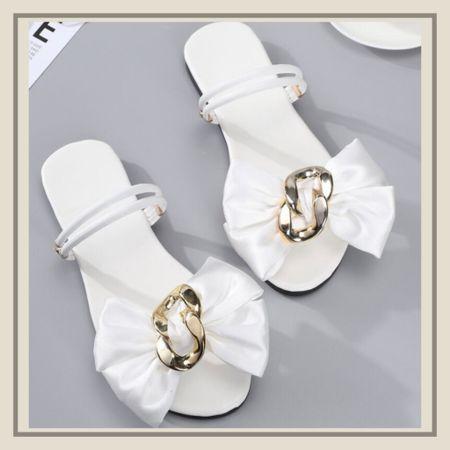 Bow decor summer sandals  http://liketk.it/3idAg #liketkit @liketoknow.it #LTKshoecrush #LTKunder50 #LTKstyletip You can instantly shop my looks by following me on the LIKEtoKNOW.it shopping app