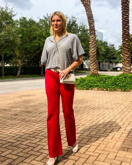 Walk like a boss 👉 http://liketk.it/3hrMw or Shop your screenshot of this pic with the LIKEtoKNOW.it shopping app @liketoknow.it #liketkit #LTKworkwear #LTKunder100 #LTKitbag #workwear #workwearstyle #workpants #whiteheels #whitebag #under100 #guccibelt