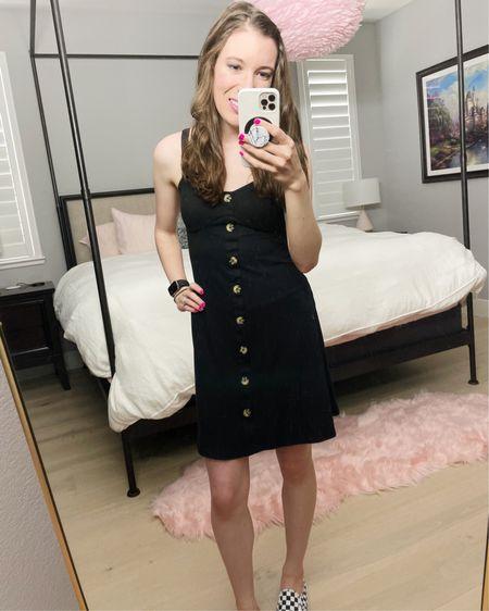 "Fave button down dress. Hands down. Built-in padding No Boundaries  Wearing size Small (5'4"")   http://liketk.it/3jgG2 #liketkit @liketoknow.it #LTKunder50 #LTKstyletip #LTKshoecrush"