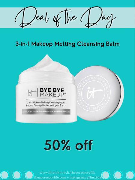 Deal of the day - makeup melting cleansing balm  Makeup remover, it cosmetics, cleansing balm, skincare   http://liketk.it/3hMVK   #liketkit @liketoknow.it #LTKbeauty #LTKsalealert #LTKunder50