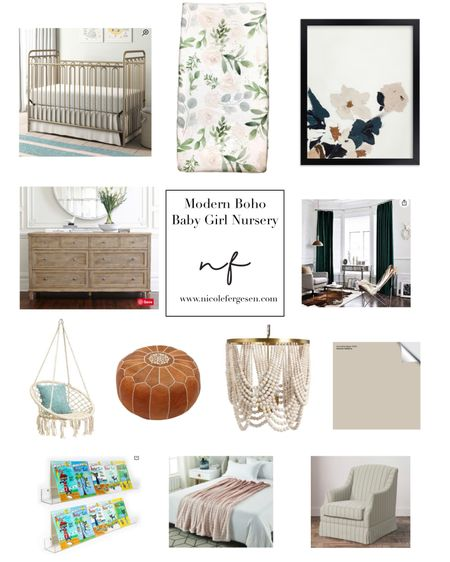Baby girl's nursery is finally making progress! Check out the blog for the inspiration board and some before pictures. We are going with a modern boho vibe and I'm here for it 👏🏼 http://liketk.it/3e82b #liketkit @liketoknow.it #LTKbump #LTKbaby #LTKkids #baby #babygirl #modern #modernboho #boho #bohobaby #nursery #nurseryinspo #crib #neutrals #hunter #blush #greenandpink #velvet #texture #chandelier #cribsheet #dresser #floral