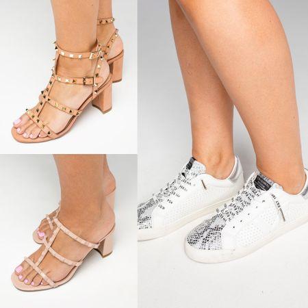 Sneakers and studded sandals on sale http://liketk.it/3hvue #liketkit @liketoknow.it #LTKunder100 #LTKunder50 #LTKshoecrush