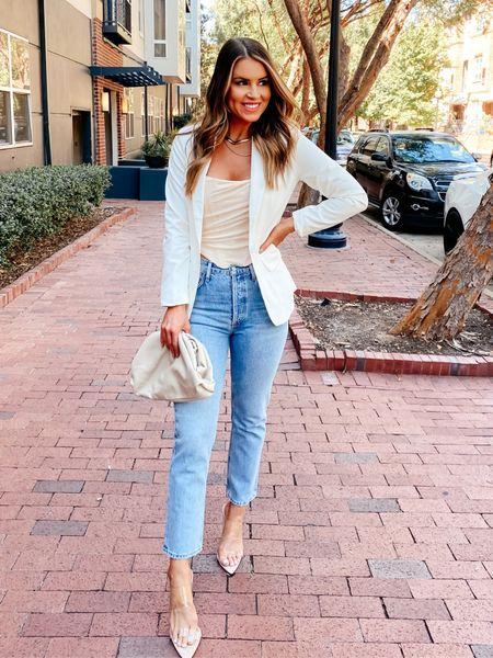 2-4 corset, 27 jeans  Amazon Amazon fashion Corset top Agolde jeans  Clear heels