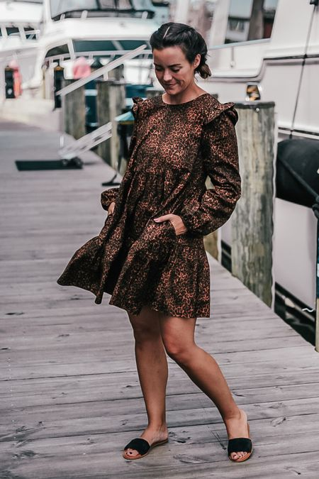 this leopard print dress is perfect for fall, wearing a S and under $100  #LTKunder100 #LTKstyletip