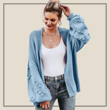 Open front drop shoulder cardigan  #LTKunder50 #LTKstyletip