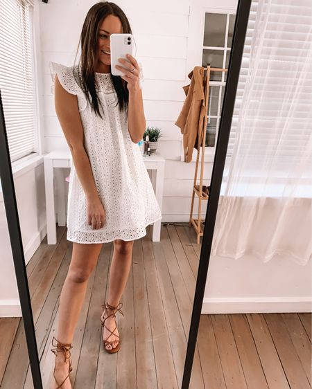 Amazon dress - wearing XS amazon sandals - wearing true size  Amazon bridal shower dress amazon baby shower dress amazon graduation dress amazon spring dress amazon summer dress #LTKstyletip #LTKshoecrush #liketkit @liketoknow.it http://liketk.it/3aBOX #LTKSeasonal