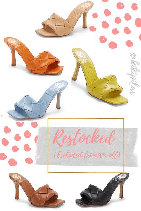 Brelanie sandals restocked // Vince Camuto // sandal trend // braided sandals // neutral heels   #LTKworkwear #LTKunder100 #LTKshoecrush