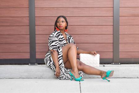 Love a good animal print number. This zebra dress is the perfect summer outfit.   #LTKshoecrush #LTKstyletip #LTKunder100