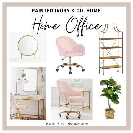 Home Office Inspo 💕 Still so obsessed with these home office pieces 😍  #StayHomeWithLTK #LTKhome