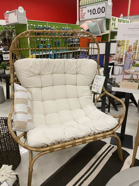 Dreaming of warmer days hanging out in the back yard and this chair would do the trick. #studiomcgee   #LTKSeasonal #LTKhome #StayHomeWithLTK