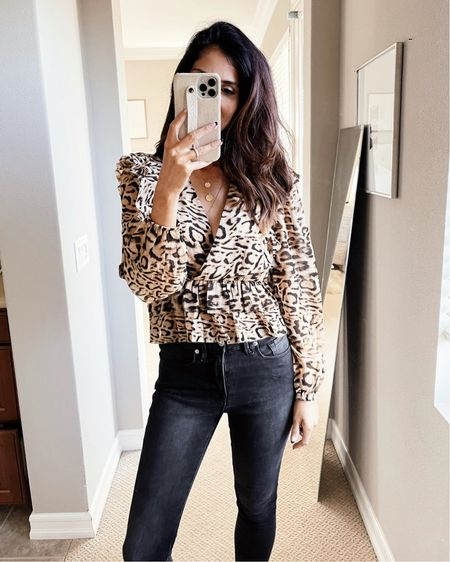 Wearing a XS top, date night style, date night inspired look, leopard print blouse, casual, express style, StylinByAylin