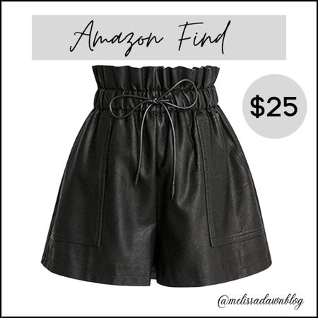 Black faux leather shorts   #LTKsalealert #LTKstyletip #LTKunder50