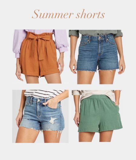 Summer shorts  Target finds  Denim shorts  Linen shorts    #LTKunder50 #LTKstyletip