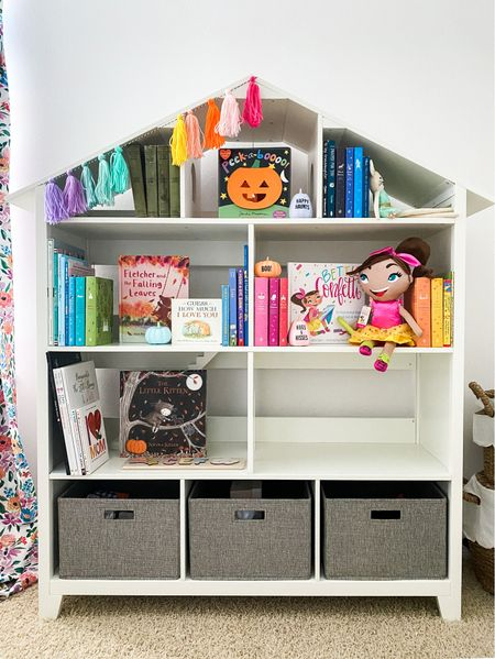 I'm still styling charlottes bookshelf, but it's back in stock and I had to let you know! Run and grab this adorable white house bookshelf!   #LTKbaby #LTKkids #LTKhome