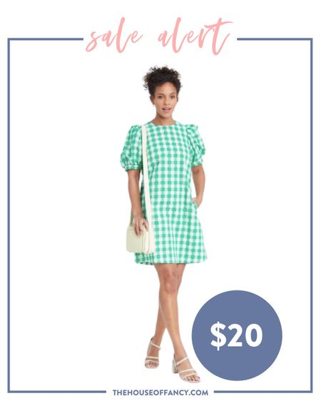 All target dresses are 20% off right now! Grab this cute gingham print one for $20!   #LTKsalealert #LTKunder50