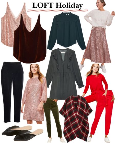 40% off Loft holiday outfits. Christmas outfit. Christmas outfits. Party dresses. Party outfit. http://liketk.it/31PmW #liketkit @liketoknow.it #LTKgiftspo #LTKunder50 #LTKsalealert