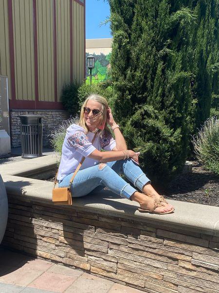 Summer breeze. Cute cropped jeans and short sleeve sweatshirt from Loft for the win   #LTKstyletip #LTKSeasonal #LTKsalealert