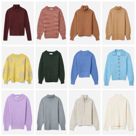 I really loved this summer & am sad to see it go but I also love fall & all things #fallstyle! The prospect of layering & sweaters & hot apple cider are definitely helping to get me excited for fall. I love this rainbow of sweaters & especially love that they're all sustainable! What color is your favorite? #sustainablestyle #everlane   #LTKHoliday #LTKSeasonal #LTKstyletip