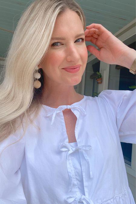 White bow dress http://liketk.it/3k3iv #liketkit @liketoknow.it