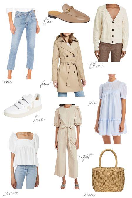 Simple spring essentials slash spring capsule wardrobe. More options for each of the ten essentials on natalieyerger.com today. xo!   #LTKSeasonal #LTKunder100 #LTKSpringSale