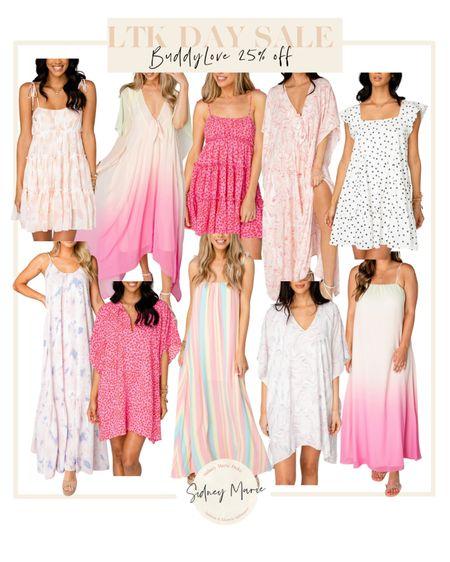 Buddy Love LTK day sale @liketoknow.it http://liketk.it/3hiMz #liketkit #LTKDay #LTKsalealert #LTKunder100  Summer dresses  Shop buddylove Vacation dresses  Floral tie dye ombré maxi dress