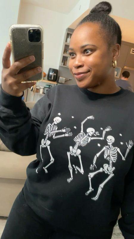 Halloween pullover, fall graphic tee, Halloween graphic tee   #LTKHoliday #LTKunder50 #LTKstyletip