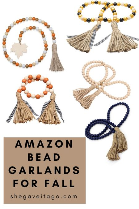Fall decor // bead garlands // Amazon finds   #LTKunder50 #LTKstyletip #LTKhome