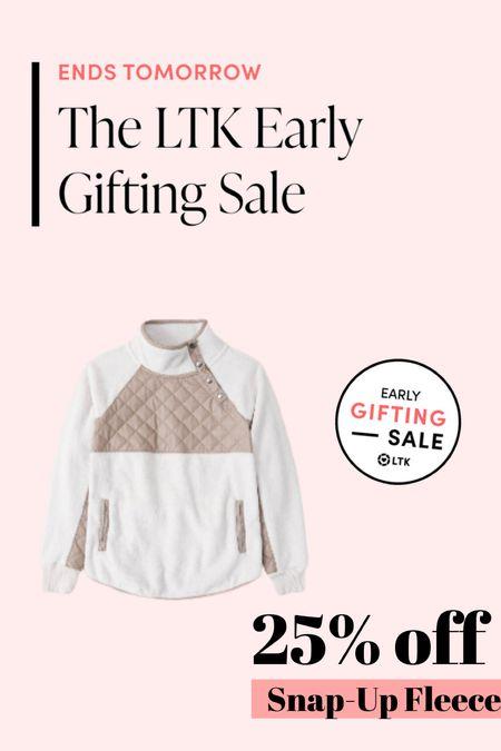 Snap up fleece on sale — 25% off and available in lots of colors!!   #LTKsalealert #LTKSeasonal #LTKSale