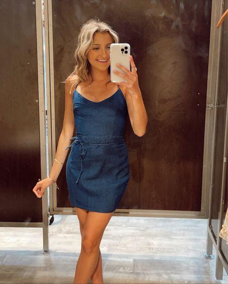 Denim mini dress http://liketk.it/3hW6G #liketkit @liketoknow.it