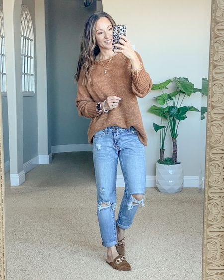 Fall sweater from Amazon!  Save 20% code 20GFDRGS Wearing a small.  Shoes go up a 1/2 size  Jeans size 0 save 15% DM on IG for the link and code.   Fall style • fall fashion • fall sweaters • amazon sweater • petite style • petite fashion • mom style •easy outfit • comfy style • casual • everyiday outfit• outfit ideas • mom style • petite  • affordable outfit   #LTKstyletip #LTKsalealert #LTKunder50