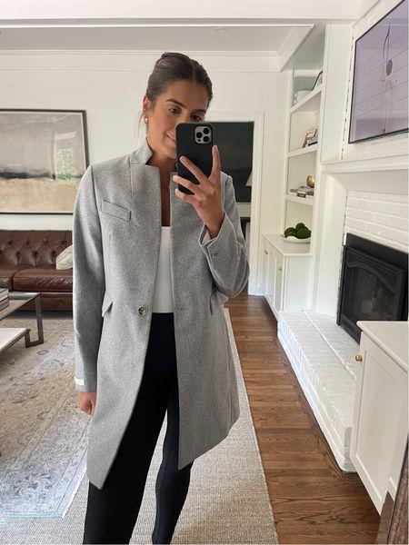 Gray coat for fall from Nordstrom anniversary sale   #LTKSeasonal #LTKsalealert