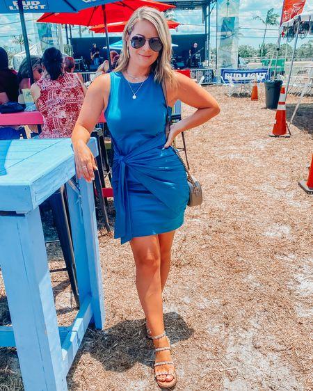 The most popular dress this summer! Love the knot tie around the waist detail 💕 http://liketk.it/3gboP #liketkit @liketoknow.it #LTKunder50 #LTKshoecrush #LTKstyletip